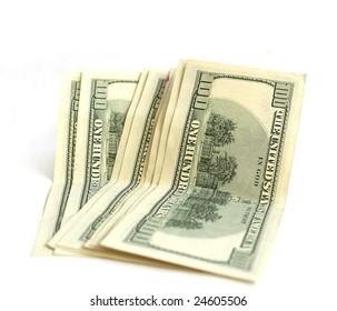 Eight hundred dollar bills isolated