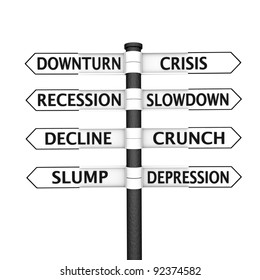 Eight pointers related to economic crisis pointing in two opposite directions