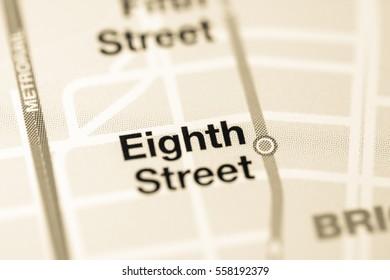 Eighth Street Station. Miami Metro map.