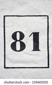 Eighty one - street number