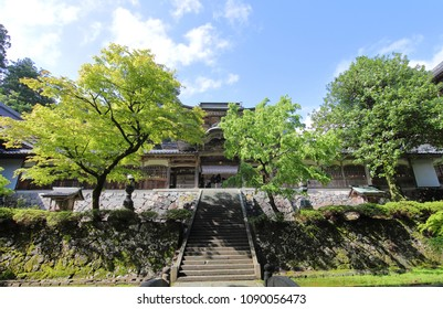 Eiheiji temple Fukui Japan. Eiheiji is one of two main temples of the soto school of Zen Buddhism, the largest single religious denomination in Japan.