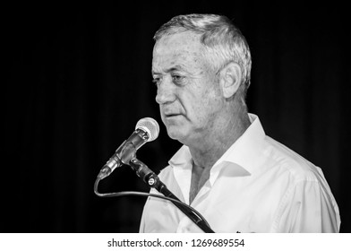 "EILAT, ISRAEL. December 21, 2017. Benjamin ""Benny"" Gantz, Israeli politician and the 20th Chief of General Staff of the Israel Defense Forces."