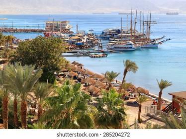 Eilat resort Red sea beach. (Eilat. Israel)