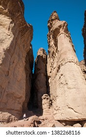 Eilat,ISrael,22-march-2019:woman enjoy the travl in tima national park in south israel,this is also famous as solomons pillars