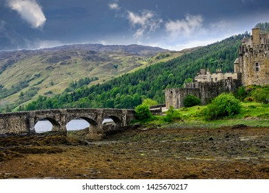 Eilean Donan Castle, built in the mid 13th century but was partially destroyed in a Jacobite uprising in 1719.  It remains one of Scotlands most iconic castles.