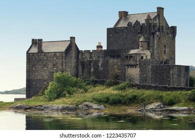 Eilean Donan Castle during a warm summer day - Dornie, Scotland - United Kingdom