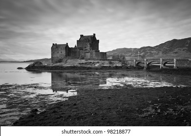 Eilean Donan Castle in the highlands of Scotland.