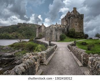Eilean Donan Castle. Isle of Skye, Scotland, May 2014.