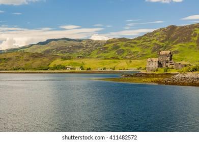Eilean Donan Castle on lake Loch Duich, Scotland