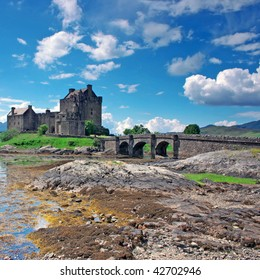 Eilean Donan Castle in Scotland, lays at the meeting point of three sea lochs (Duich, Alsh and Long) and is one of Great Britains most emblematic visitor attractions.