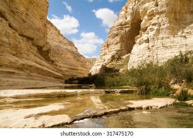 Ein Avdat Canyon on the Negev desert.