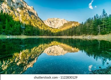 Ein Bild vom grünen See in der Steiermark