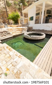ein mabua-israel. 01-06-2021. A large and beautiful pool of clear water in the Jerusalem area - called Ein Mabua