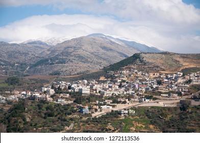 Ein Qiniyye and Mount Hermon