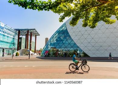 Eindhoven, Brabant, Holland - 21 July 2018: lovely centre of Eindhoven