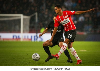 Eindhoven, Holland - Jul 14, 2021. PSV Eindhoven player Mohamed Ihattaren in action during a friendly match between PSV Einhoven and PAOK FC.