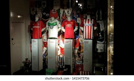 Eindhoven, Netherlands - 2016.07.05.: Inside Philips Eindhoven Football Stadium Museum