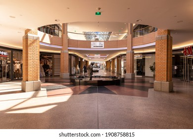 Eindhoven, The Netherlands, April 21st 2020. Interior inside of the famous shopping mall, the 'Heuvel Galerie' building in the center of Eindhoven during lockdown time