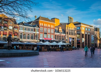 Eindhoven, Netherlands, FEB 27 2018: architecture and buildings of city centre