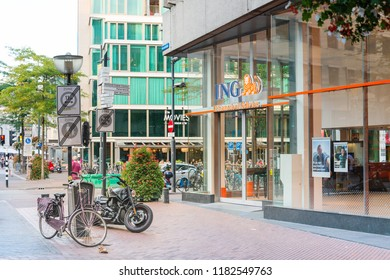 EINDHOVEN, NETHERLANDS - JULY 27, 2018 : Street view of Modern architecture Eindhoven, Netherlands