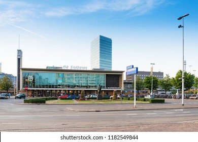 EINDHOVEN, NETHERLANDS - JULY 27, 2018 : main train station Eindhoven, Netherlands