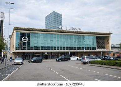 Eindhoven, Netherlands - May 16, 2018 : Eindhoven main railway station