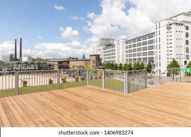 Eindhoven, The Netherlands, May 4th 2019 A rooftop view on industrial district Strijp S Ketelhuisplein and Klokgebouw in Eindhoven
