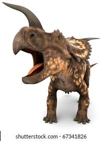 einiosaurus big roaring close up
