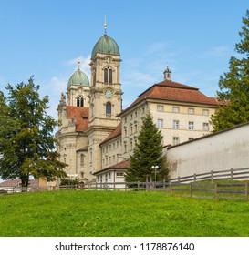 Einsiedeln Abbey in Switzerland. Einsiedeln Abbey is a Benedictine monastery in the town of Einsiedeln in the Swiss canton of Schwyz.
