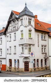EISENACH, GERMANY - MAY 31, 2015: Typical Architecture of Eisenach, Thuringia, Germany. Eisenach is a town and the main urban centre of western Thuringia