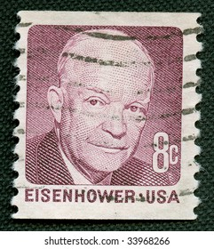 Eisenhower On US Vintage Postmark