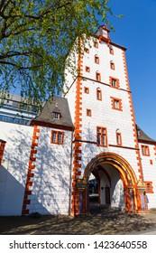 Eisenturm (Iron Tower) in Mainz, Germany. 21.04.2019.