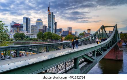 """Eiserner Steg"" in Frankfurt"
