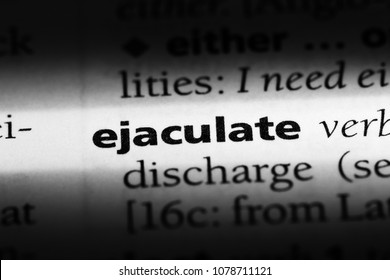 ejaculate word in a dictionary. ejaculate concept