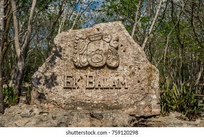 Ek Balam, Mexico, May 17, 2017 - Ek Balam Mayan Acropolis, Temples, and Ruins