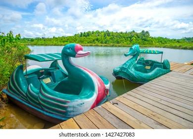 "Ekang Anculai, Bintan Island, Indonesia, June 2019: The new holiday destination at Bintan Island called ""Desa Wisata Ekang"""