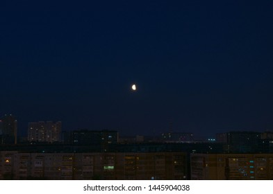 Ekaterinburg city streets, night wiev, raion JBI