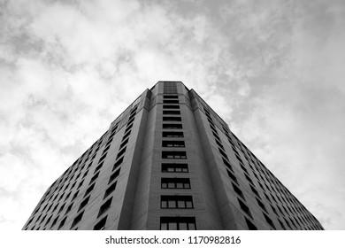 Ekaterinburg, Russia - 08.08.2018: Office skyscraper building in Ekaterinburg city.
