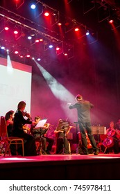 """Ekaterinburg, Russia - February 27, 2016: Orchestra Concert """"Other Band"""" plays """"Depeche Mode"""""""
