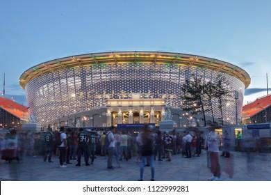 Ekaterinburg, Russia / June 27, 2018: The Ekaterinburg-Arena stadium.