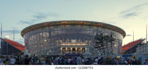 Ekaterinburg, Russia / June 27, 2018: Panorama of the Ekaterinburg-Arena stadium.