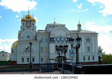 Ekaterinburg, Russia - May 18, 2006: Patriarchal Farmstead spiritual and educational center
