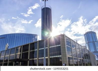 Ekaterinburg, Russia - May 19, 2018: The hotel Hayat. Ekaterinburg city, Russia