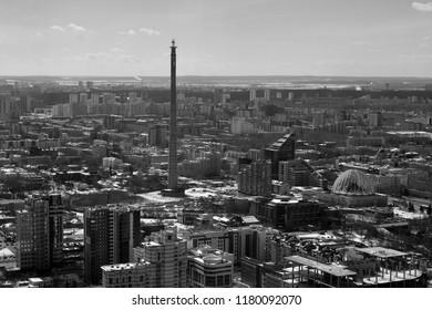 Ekaterinburg television tower gray