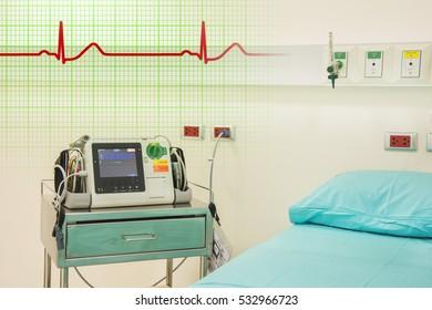 ekg or ecg machine in emergency room