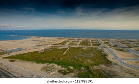 Eko Atlantic city under construction