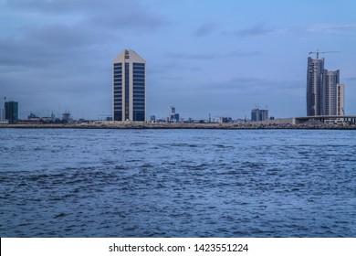 Eko Atlantic landscape view from the sea