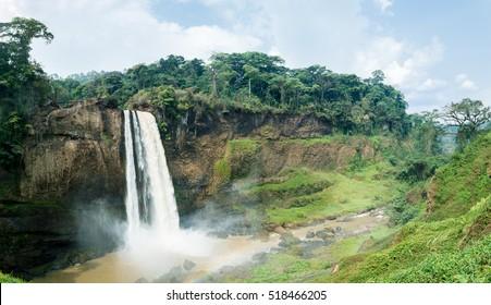 Ekom-Nkam Waterfalls, Melong, Cameroon, western Africa.