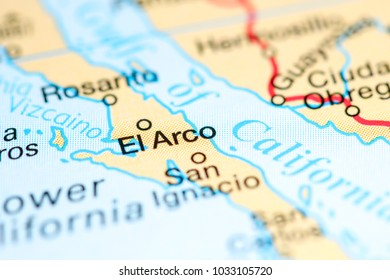 Rosarito Mexico On Map Stock Photo Edit Now 1033041280 Shutterstock