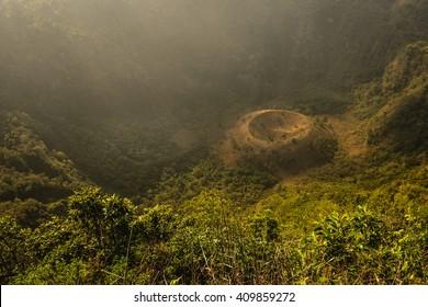 The El Boqueron crater just outside of San Salvador City